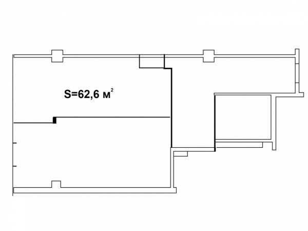 Планировки однокомнатных квартир 62.6 м^2